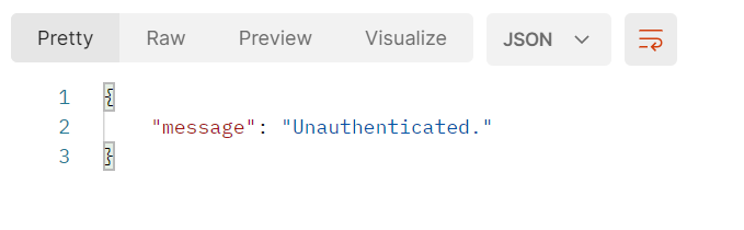 Unauthenticated user or invalid token